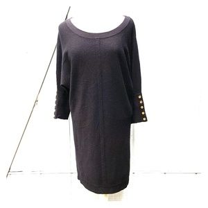 Juicy Couture black dolman long sleeve dress Med